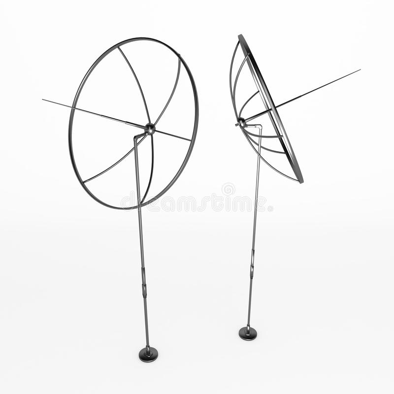 Antenas del metal libre illustration