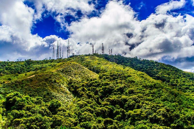 Antenas 2 do vulcão fotografia de stock