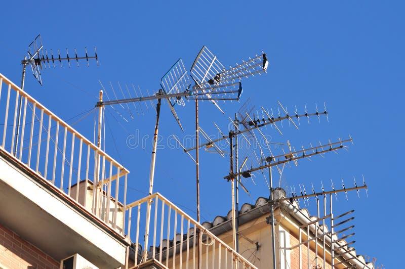 Antenas em casa imagens de stock royalty free