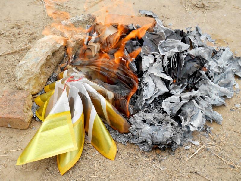 Antenat ofiary palenie przy doniosłym miejscem obrazy stock