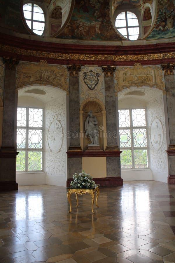 Antenat sala w Vranov nad dyjà górskiej chacie obraz royalty free