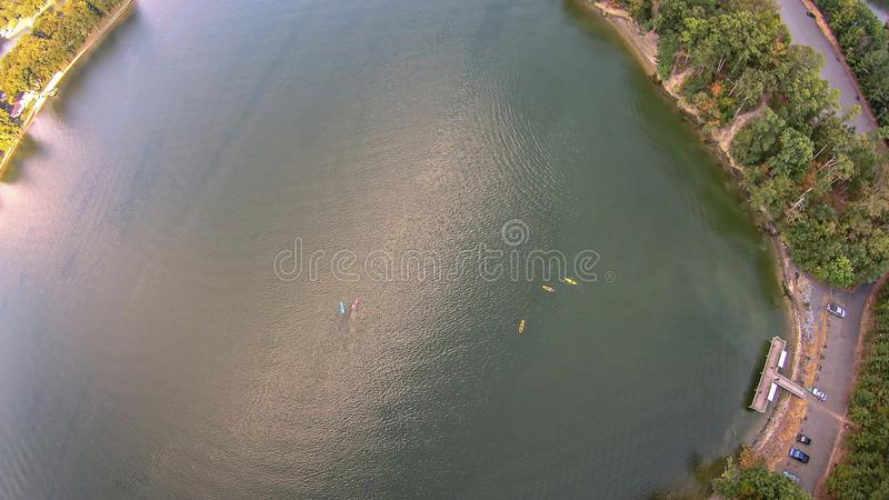 Antenn över sjöwylie South Carolina royaltyfri bild