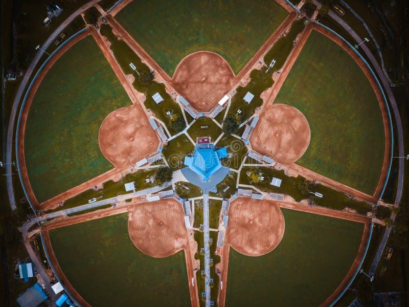 Antenn av Kissimmee Floirda arkivfoto