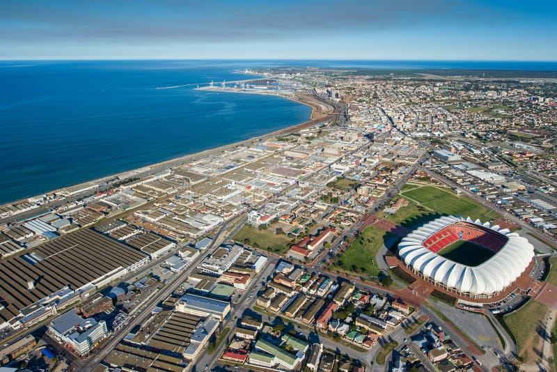 Antenn av port Elizabeth South Africa arkivfoton