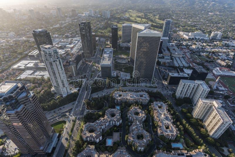 Antenn av torn för Los Angeles århundradestad royaltyfria bilder