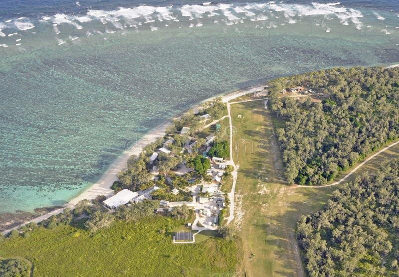 Antenn för dam Elliot Island arkivfoto