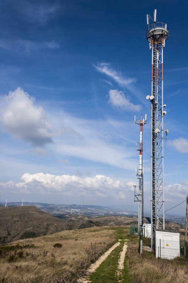 Antenn för mobiltelefoner arkivfoto