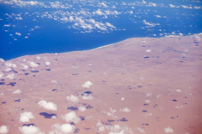 Antenn för Sahara öken arkivbild