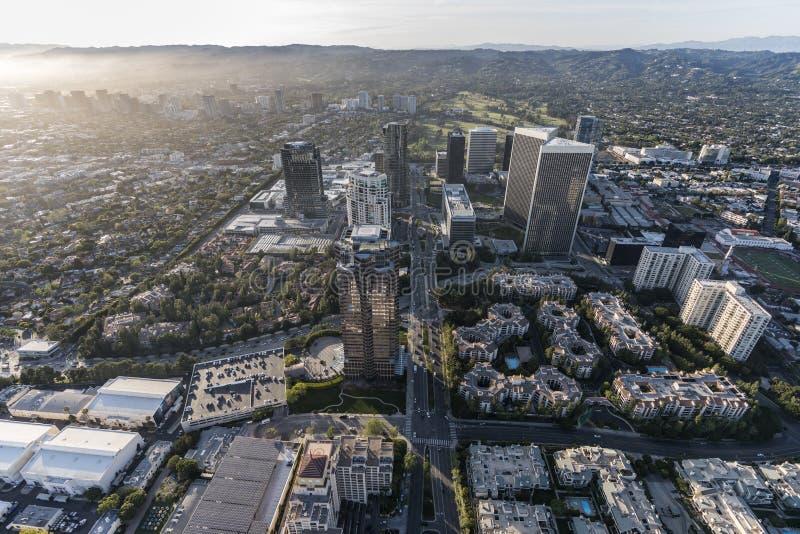 Antenn för stad för århundrade Los Angeles för västra sida royaltyfri foto