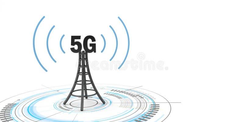 antenn för teknologi 5G arkivbild