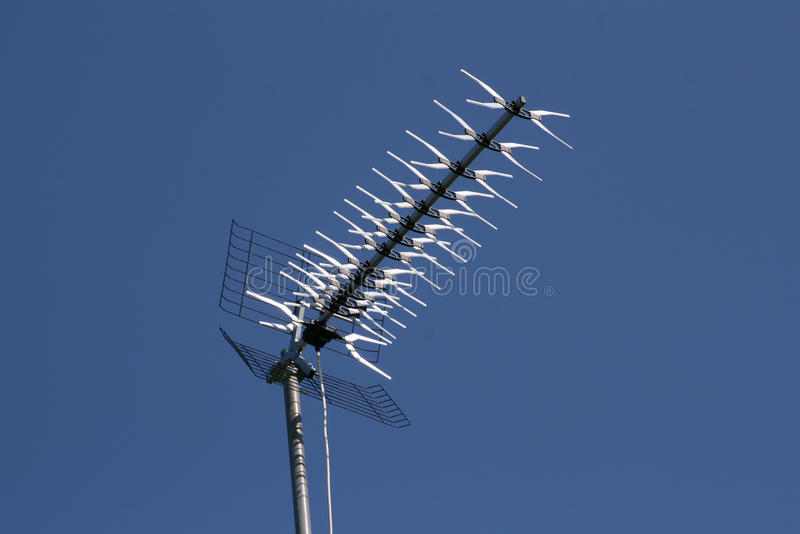 Download Antenna stock photo. Image of clear, roof, network, antenna - 12357556