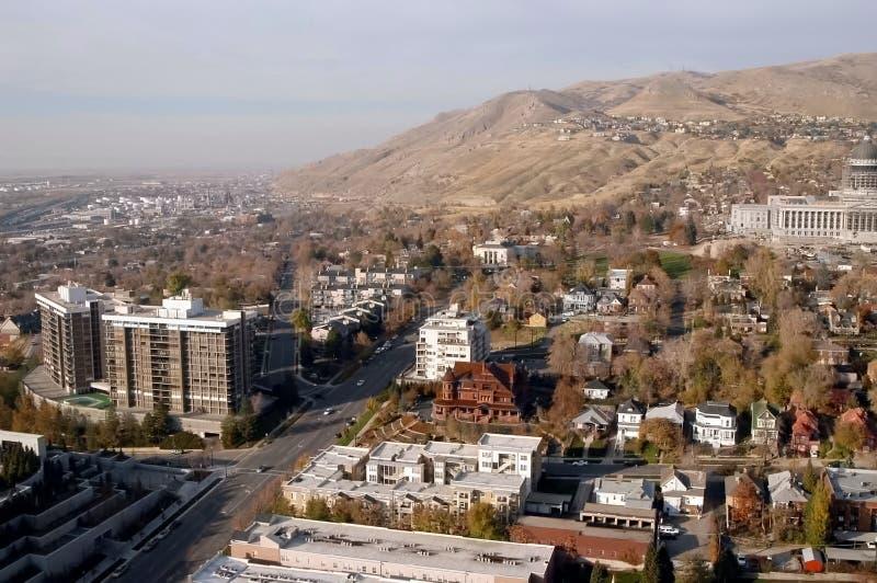 Antenna 2 del centro di Salt Lake City fotografie stock