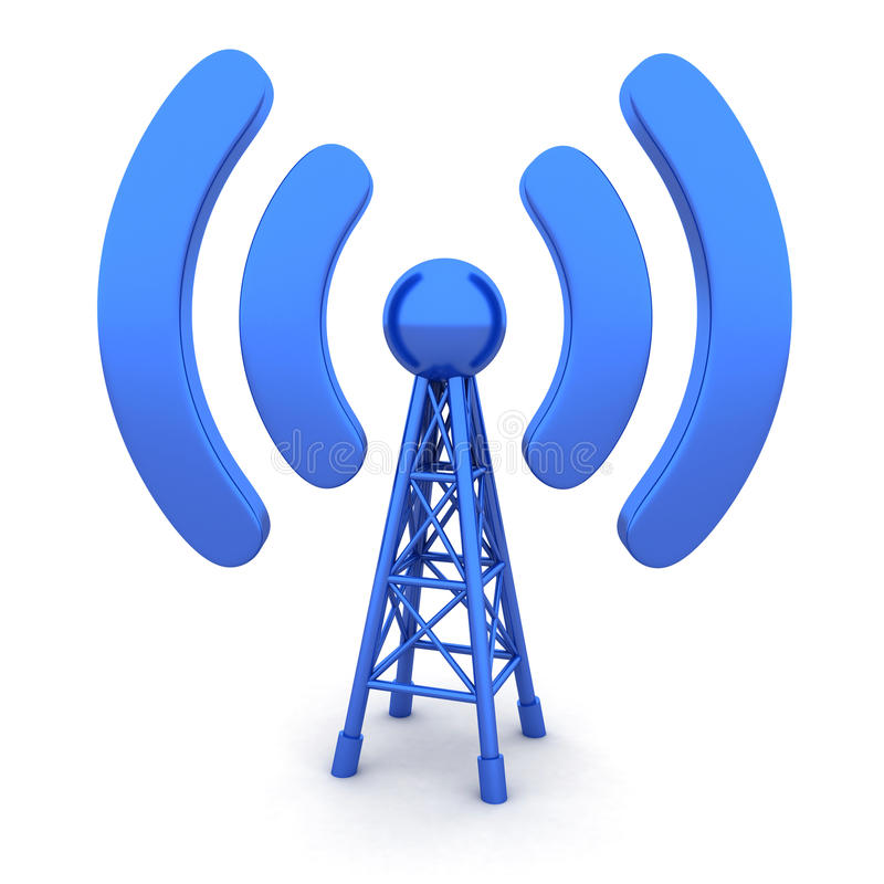 Download Antenna stock illustration. Image of tower, symbol, communications - 26770950