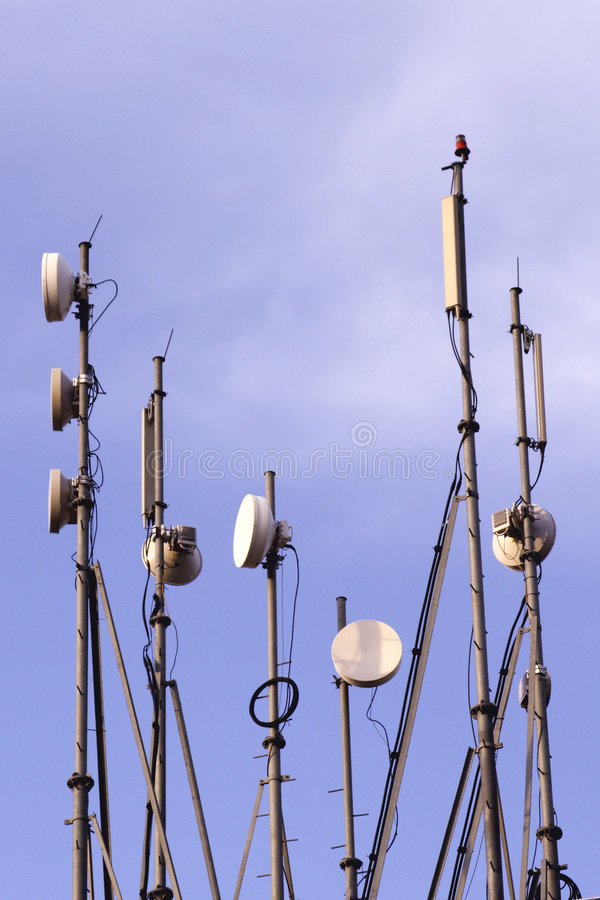 Antenna. Gsm antenna details communications antenna for mobile communication stock images