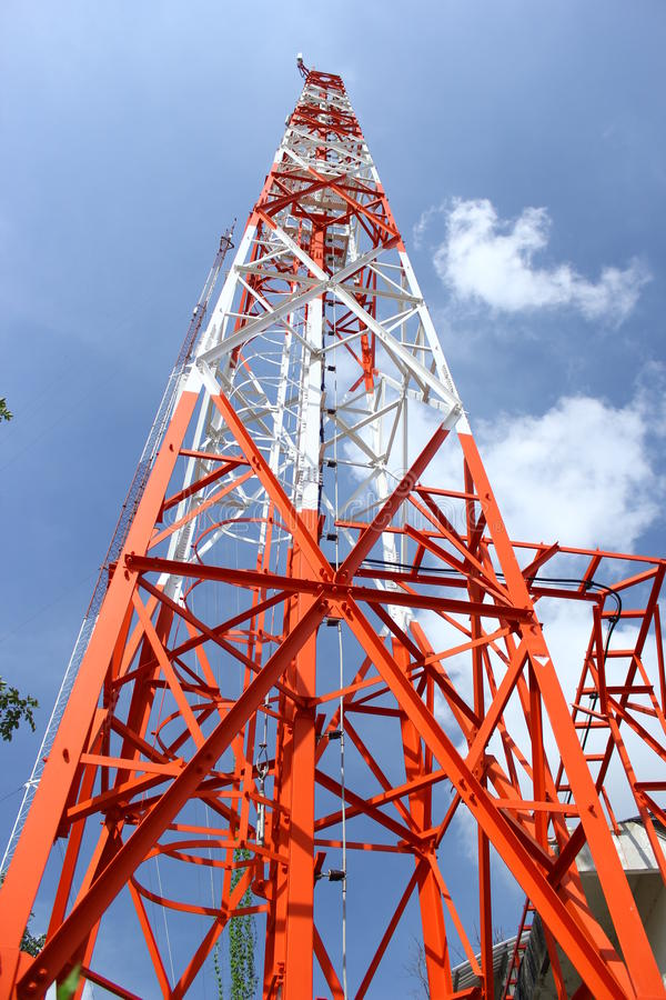Download Antenna for communication stock image. Image of industries - 27796635