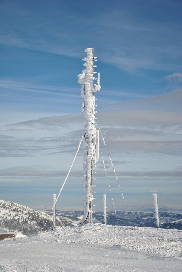 Antenna congelata fotografia stock