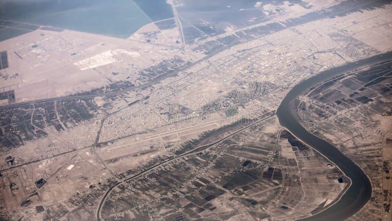 Antenna del confine dell'Irak e dell'Iran fotografie stock libere da diritti