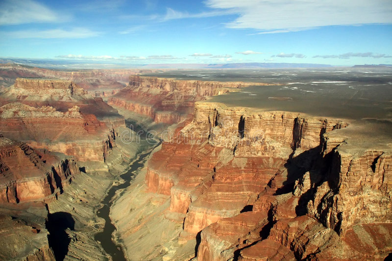 Antenna del grande canyon fotografia stock libera da diritti