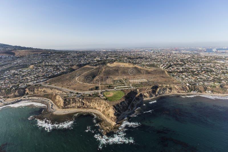 Antenna del punto di bianchi in San Pedro, California fotografia stock libera da diritti