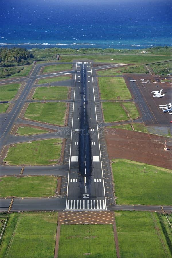 Antenna dell'aeroporto dell'Hawai fotografia stock