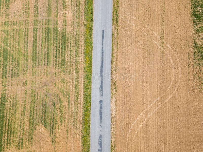 Antenna della cittadina circondata da terreno coltivabile in Shrewsbury, P immagini stock libere da diritti