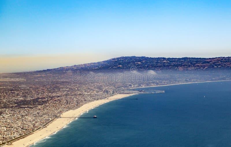 Antenna della spiaggia a Los Angeles immagini stock