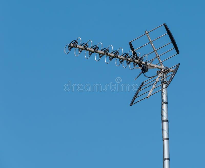 Antenna della TV immagini stock