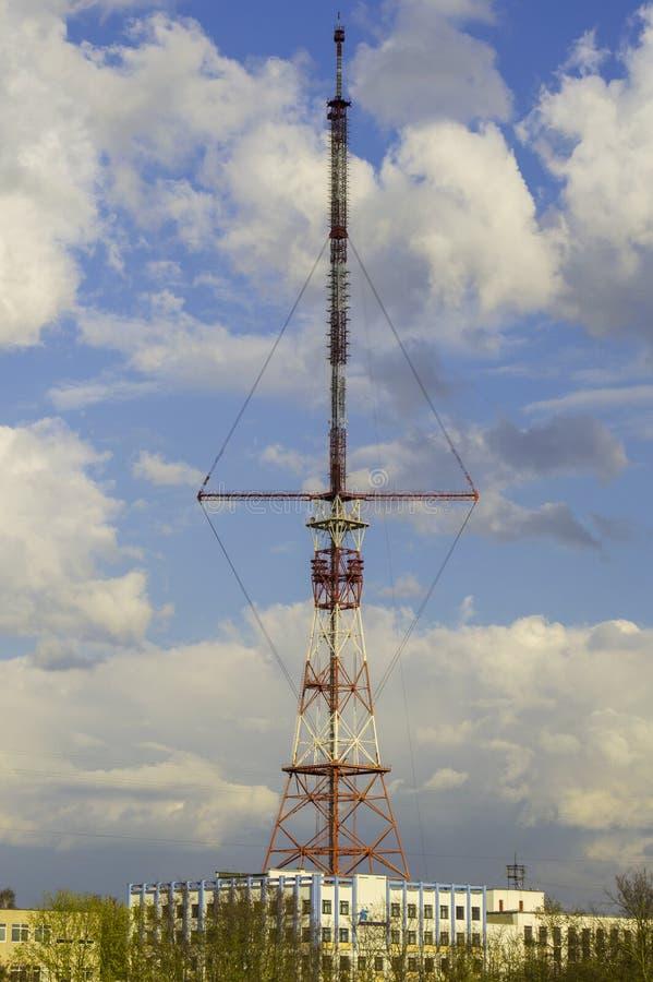 Antenna della TV nella città di Grodno fotografia stock