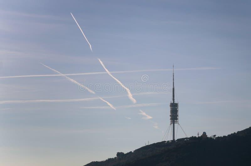 Antenna di Comm immagine stock