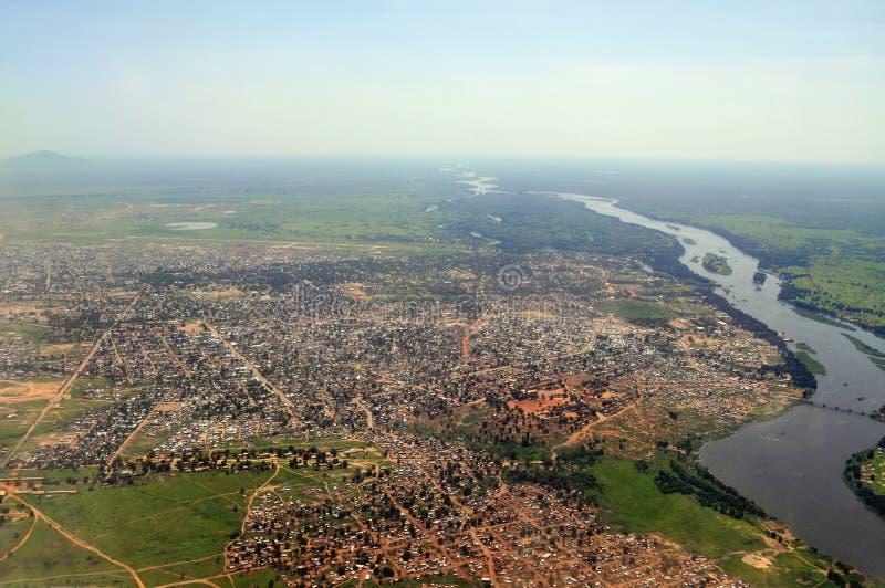 Antenna di Juba, capitale del Sudan del sud immagini stock libere da diritti