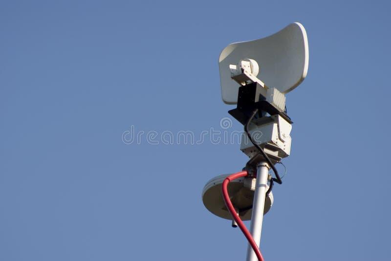 Antenna di notizie di microonda fotografie stock libere da diritti