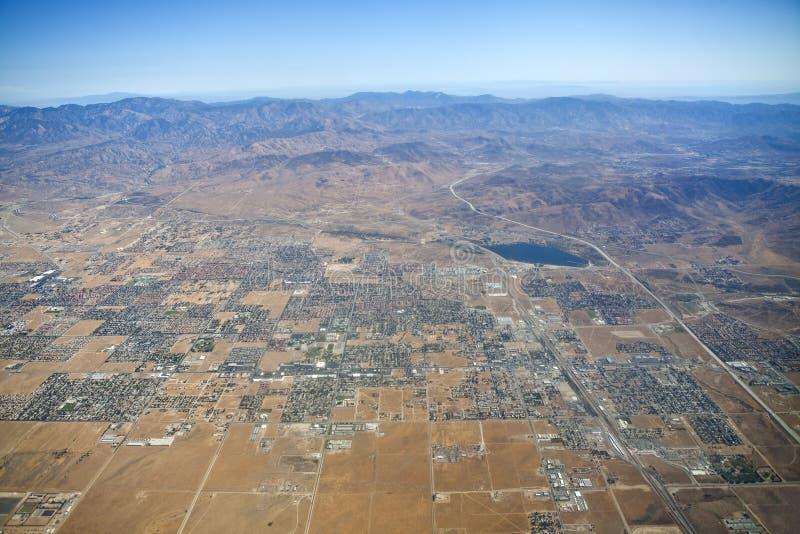 Antenna di Palmdale California immagine stock