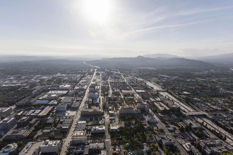 Antenna di Pasadena California in città immagini stock
