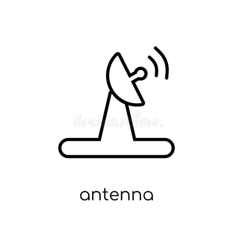 Antenna icon from Electronic devices collection. stock illustration
