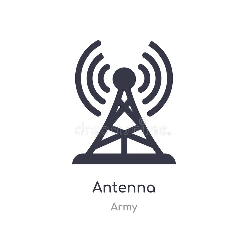 antenna icon. isolated antenna icon vector illustration from army collection. editable sing symbol can be use for web site and stock illustration