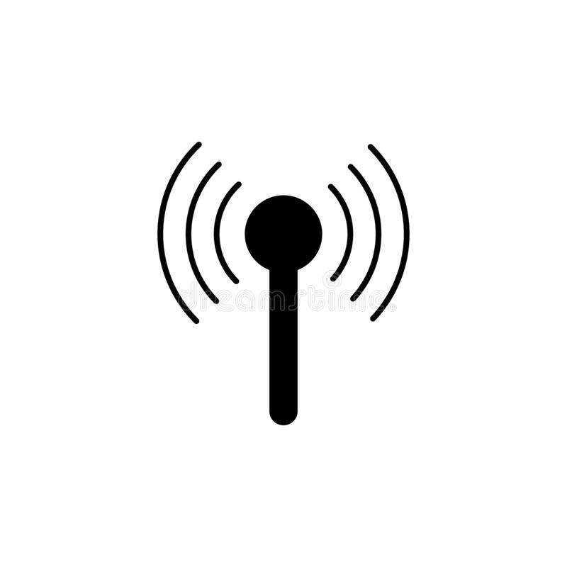 Antenna icon. Simple glyph, flat vector of Technology icons for UI and UX, website or mobile application. On white background royalty free illustration