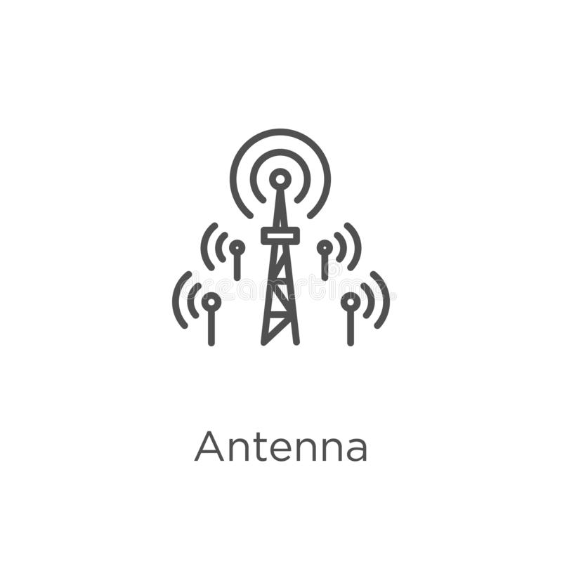 antenna icon vector from g collection. Thin line antenna outline icon vector illustration. Outline, thin line antenna icon for royalty free illustration