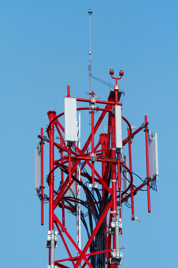Antenna for mobile network royalty free stock image