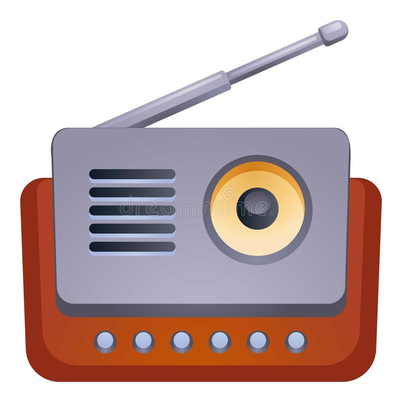 Antenna radio icon, cartoon style royalty free illustration
