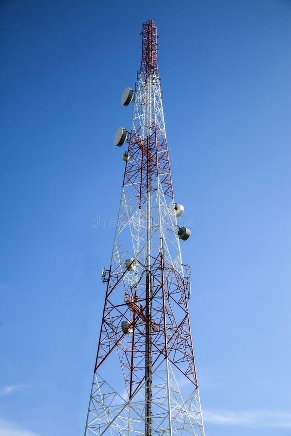 Antenna radiofonica di telecomunicazione fotografia stock