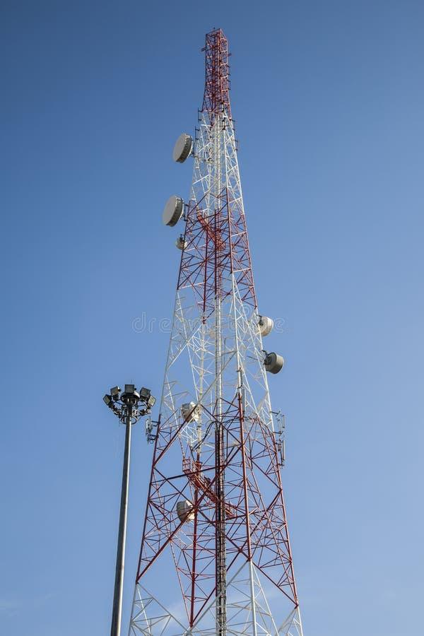 Antenna radiofonica di telecomunicazione immagini stock libere da diritti
