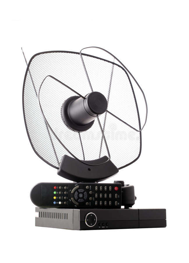 Download Antenna and receiver stock photo. Image of indoor, remote - 23976540