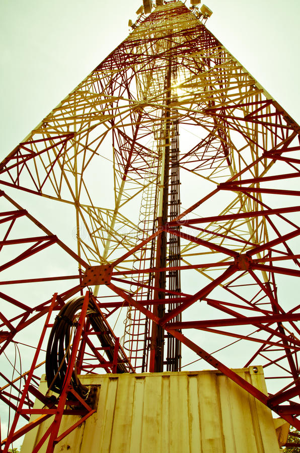 Download Antenna stock image. Image of network, cabinet, blue - 34085391