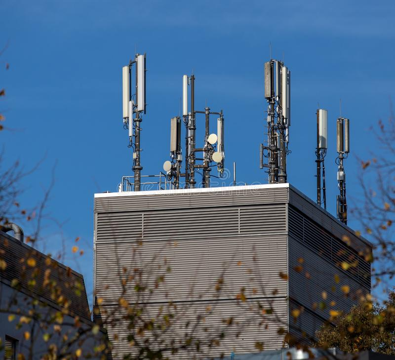 Antenna on the roof royalty free stock photography