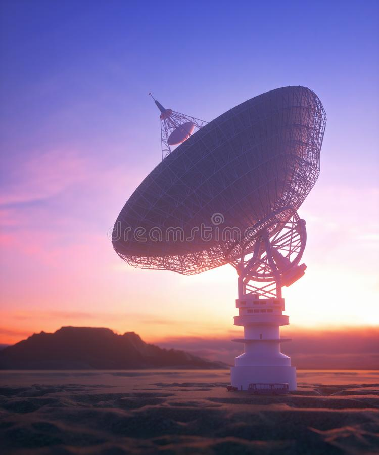 Antenna Satellite Dish Clipping Path Included stock illustration