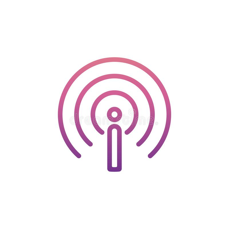 antenna sign icon in Nolan style royalty free illustration