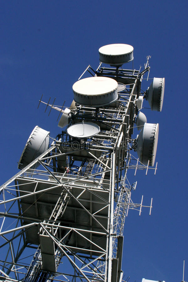 Download Antenna tower stock image. Image of blue, telecommunications - 11097343
