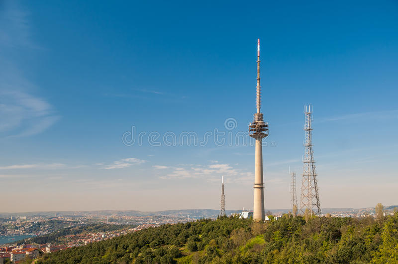 Antenna Towers from Istanbul stock photos