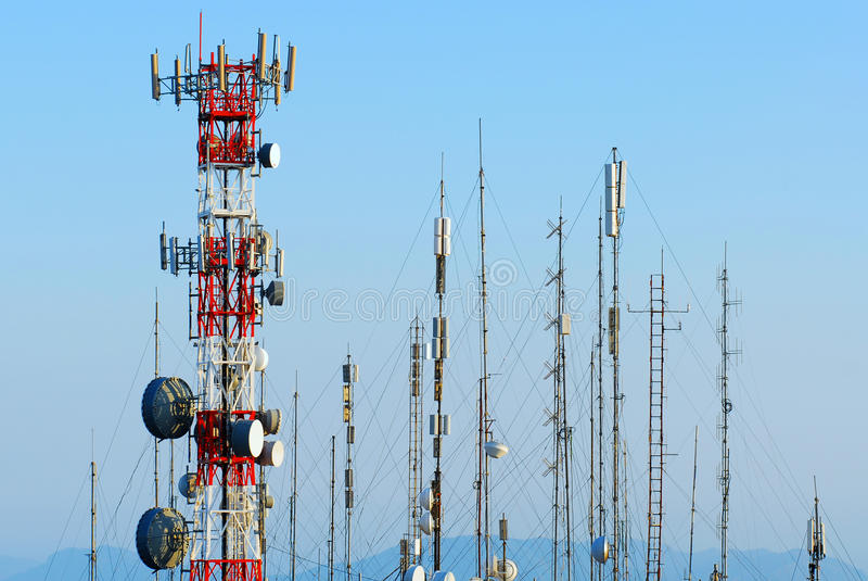 Download Antennas stock image. Image of phone, mobile, broadcast - 26299053