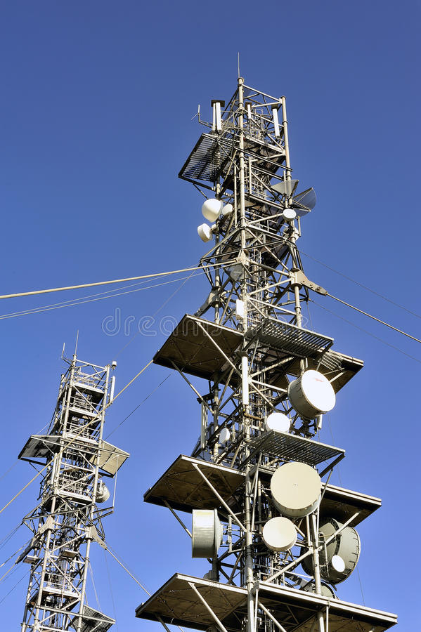 Download Antennas stock photo. Image of satellite, france, frequency - 33456862